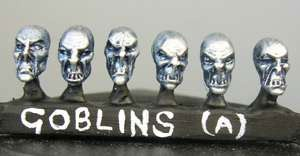 Goblin heads (a) Sprue of 6 (6)