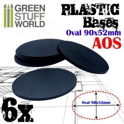 90x52mm Oval Kunststoffbasen (6)