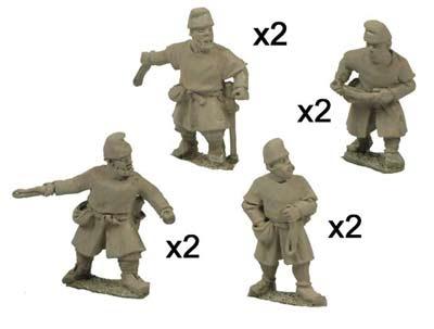 Saxon Fyrd with Slings (8)