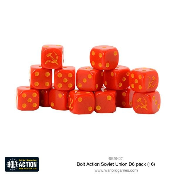 Soviet Union D6 Dice (16)