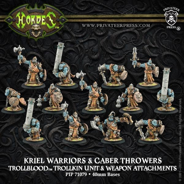 Trollblood Kriel Warriors Unit Box (plastic)