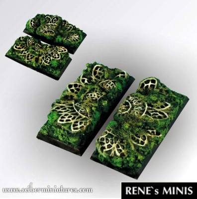 Elven Temple RuinsSquare Bases 50/25mm (2) (OOP)