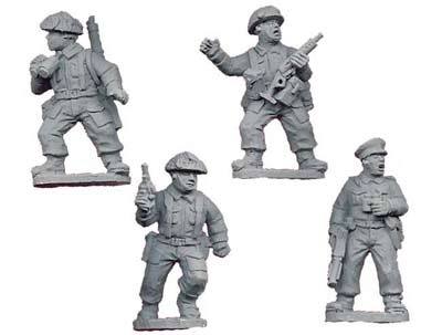 Late British Infantry Command (4 figs)