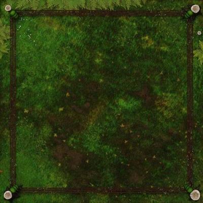 RUMBLESLAM Grassy Ring Mat