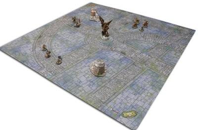 Iron Kingdoms City Streets Gaming Mat (4x4)