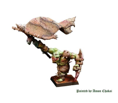 Mountain Orc Army Banner Bearer (1)