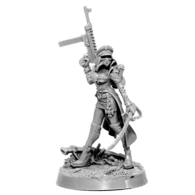 Female Commissar with Laser Pistol