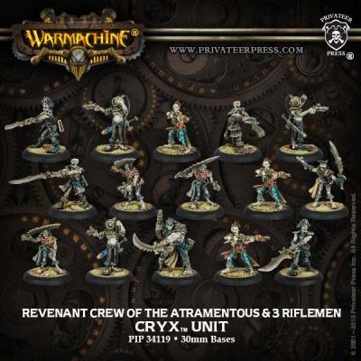 Cryx Revenant Crew & Riflemen (15)
