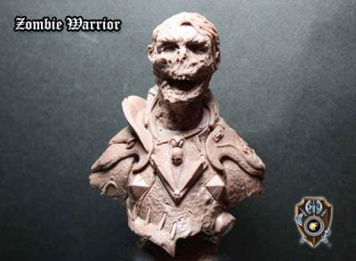 Zombie Warrior Bust