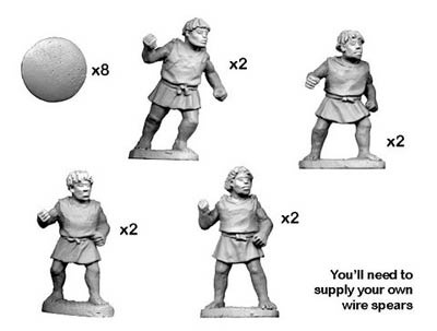 Numidian Warriors with Spear/ Javelin (8)
