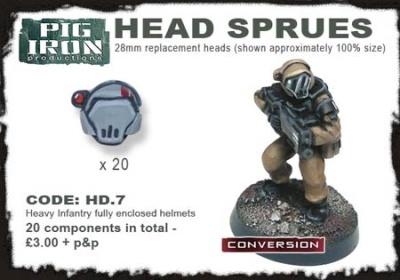 Hvy. Inf. Closed Helmet Sprues (20)