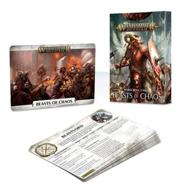 Warscroll Cards: Beasts of Chaos (Englisch)