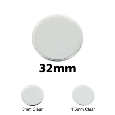 Clear Miniature Base, Circular 32x3mm