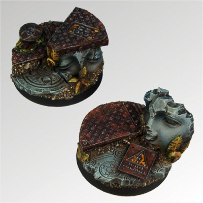 Ancient Ruins 40 mm round bases set3