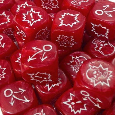 Block Dice Set PEARL RED (3)
