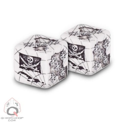Black & White d6 Pirate Dice (2)