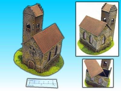 Geländestück Kirche (15mm)