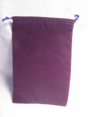 Velour Dice Bags: Large Purple (5'' x 7'')