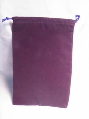 Velour Dice Bags: Large Purple (5'' x 7'')