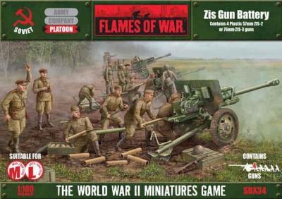 ZiS Gun Battery (Plastic)
