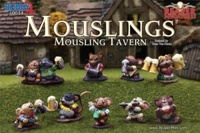 Mousling Tavern (9 Mouse Tavern Figures)