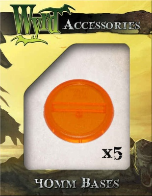 Orange translucent Bases 40mm (5)