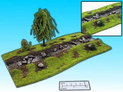 Geländestück Bach 1 mit Baum
