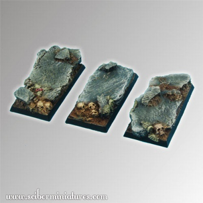 Rocky 25 mm / 50 mm square bases