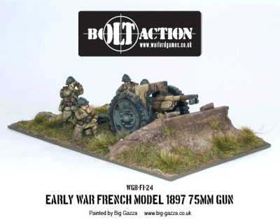 Bolt Action French Model 1897 75mm Gun