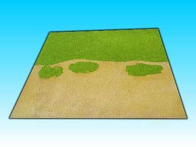 Übergangsplatte Wüste/Gras Gerade, 50 x  50 cm
