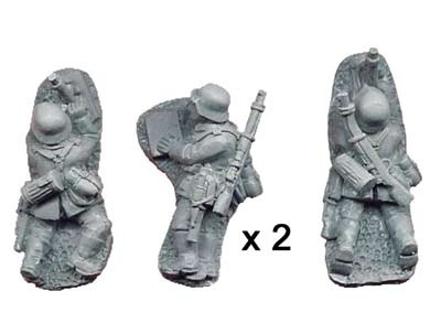German 5cm Mortar Teams (4 figs)