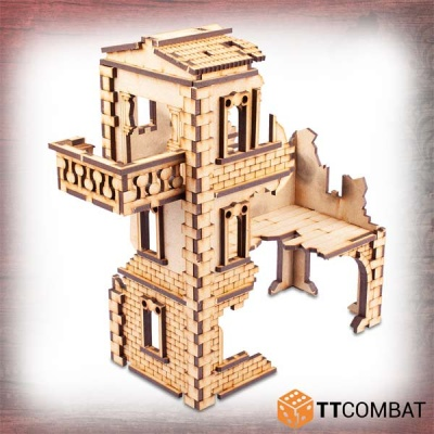 Ruined Modular Casa Balcone Simona