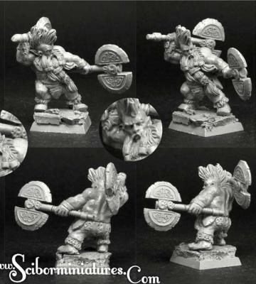 28mm/30mm Dwarf Wild Chieftain #5