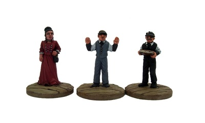 Dead Man's Hand Civilian Bank Figure Set (3)