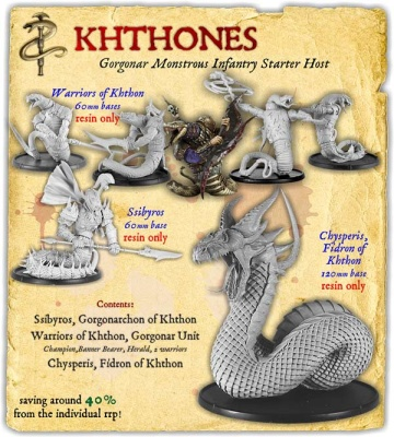 Khthones Gorgonar Monstrous Infantry Starter Host