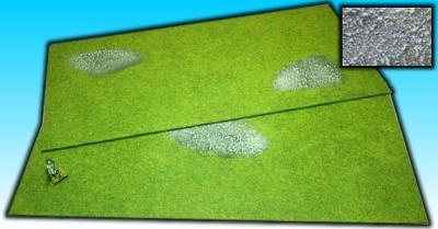 2 Grasflächen ''Stein'' 25 x 50 cm