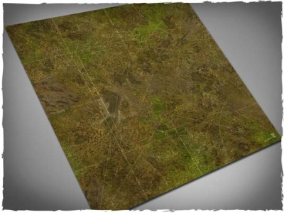Game mat - Muddy Field 3x3 (with Malifaux Zones)