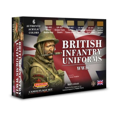 Acrylic colours Lifecolor for British uniforms (6)