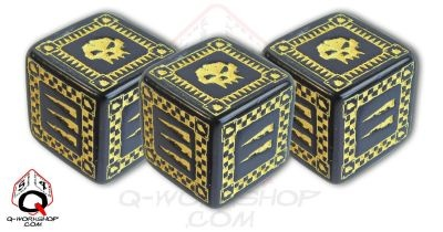 Ork Battle Dice Black (5)