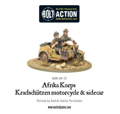 Afrika Korps Kradschützen Motorcycle Sidecar