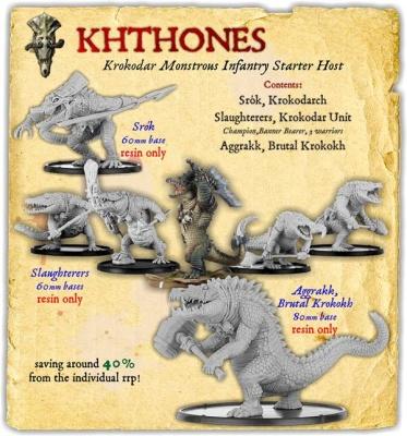 Khthones Krokodar Monstrous Infantry Starter Host