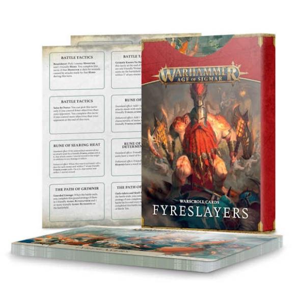 Warscroll-Cards: Fyreslayers ENGLISCH