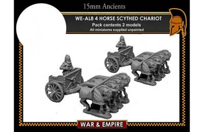 Later Persian, 4-Horse Scythed Chariots