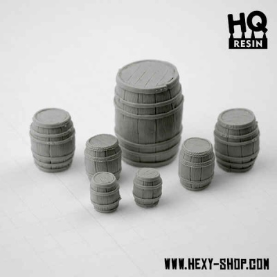 Wooden Barrels Set (7)