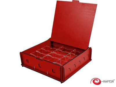 Board Game Storage Boxes: Universal Box Medium (Red)