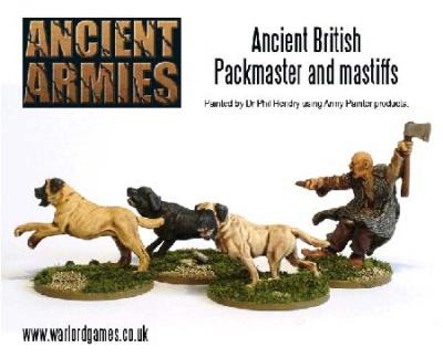 Ancient Briton Mastiff Packmaster (4)(OOP)