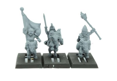 Goat Heroes, Halfling Mounted Command (3)
