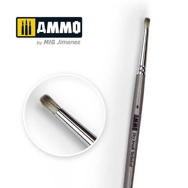 AMMO Drybrush Technical Brush #4