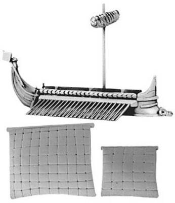 Greek Quinquereme (includes furled & set main and