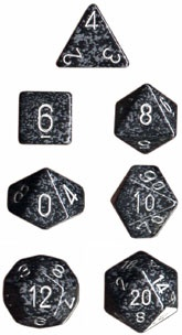 Chessex Ninja Speckled 7-Die Set
